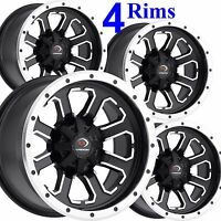 4) ATV RIMs WHEELs 12x7 front 12x8 rear 4/156 Vision 548 some Kawasaki Mule Pro