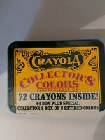 Unopened Crayola Collectors Colors 72 in Tin Box A-11