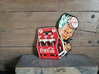 Die cut 6 pack Coca Cola Sprite Boy sign Soda Fountain drink store