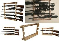 Gun Wall Rack Rifle Storage Display 2/3/5 Riffles Shotgun Guns Stand Wall Mount