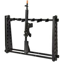 PORTABLE ADJUSTABLE RIFLE GUN DISPLAY STAND Hanger Storage Organizer Holder Rack