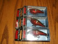 RAPALA  CLACKIN CRANK 55s----lot of 3 RED CRAW COLORED FISHING LURES-CNC55