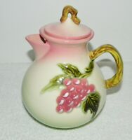 Hull Art Pottery Tokay Pink & Green with Grapes Teapot