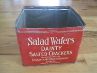 Salad Waters TIN Dainty Salted Crackers Merchants Biscuit Co Denver CO