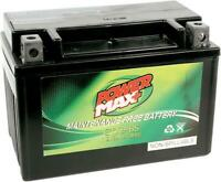 Power Max Maintenance-Free Battery YTX9-BS #GTX9-BS for ATV/UTV