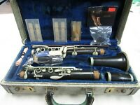 Vtg Noblet Normandy 1778 Clarinet with Extra Reeds Accessories Leblanc Hard Case