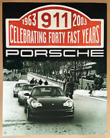 PORSCHE OFFICIAL 996 911 40th ANNIVERSARY DEALER SHOWROOM POSTER 2003 - 2004.