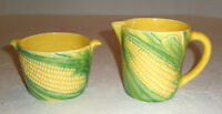 Vintage VALLONA STARR Corn on Cob SUGAR AND CREAMER