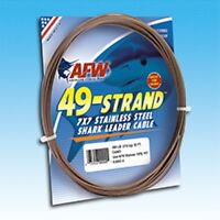 American Fishing Wire - 49-Stand 7x7 Stainless Steel Shark Leader Cable -600 lbs