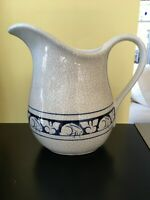 Dedham Pottery The Potting Shed Large Pitcher with Rabbits