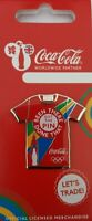OFFICIAL COCA COLA LONDON 2012 OLYMPIC T SHIRT PIN BADGE BRAND NEW