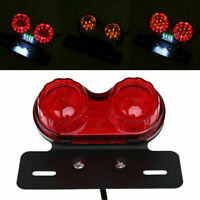 LED License Plate Brake Tail Turn Signal Dual Light for Harley ATV Dirt Bike 12V