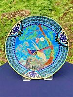 BEAUTIFUL LONGWY 19TH CENTURY ENAMEL POTTERY CHARGER.PLATE..JAPANESE DECOR