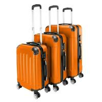 Durable 3Pcs Luggage Set ABS Trolley Spinner 20quot; 24quot; 28quot; Suitcase Hard Shell
