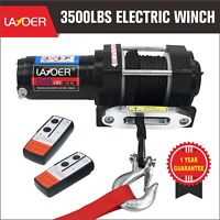 LAYOER 3500lb Electric ATV Winch Synthetic Rope 2 Wireless Remote