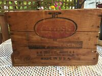 Antique Vintage Wood Crate W.W Gross Shoe STERILIZED TACKS Plymouth Cordage Co