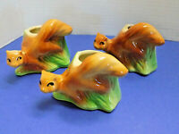 SET of 3 SHAWNEE PLANTERS SQUIRRELS 664 USA ART POTTERY FLOWER POT 1950s VINTAGE