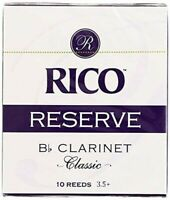 Rico Reserve Classic Bb Clarinet Reeds, Strength 3.5+, 10-pack