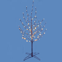 Brown Bark Twig Tree with White LED Lights Christmas Decoration 4 Feet