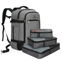 40L Flight Approved Carry on Travel Backpack S3 Packing Cubes Weekender Laptop