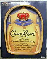 Crown Royal 3D Wall Art Fine De Luxe Blended Canadian Whiskey Bar Pub Sign