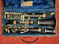 Vintage Carl Fischer Clarinet, Made In Italy, Perma Wood, 26″L, PA5345