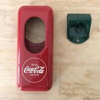 VINTAGE Coke Wall Mount BOTTLE OPENER & Cap Catcher Acton Mfg Coca Cola