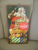 Coca Cola Santa Claus Wooden Sign Drink Coca Cola In Bottles The Gift for Thirst
