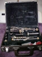 Vintage Yamaha YCL 34 Wood Clarinet With y-12  and debut mouthpieces and Case