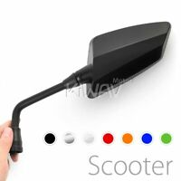 Hawk mirrors convex 8mm 1.25p adpaters for scooters atv utv moped PAIR