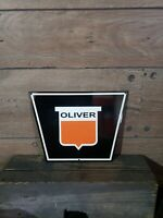 Oliver Tractor Sign farm seed feed barn dealer gas oil Steam power Engine