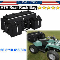 Oxford Cloth ATV Rear Rack Soft Luggage Storage Cargo Gear Pack Tank Saddle Bag