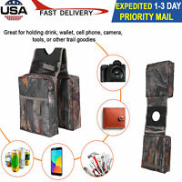 Universal ATV Fuel Motorcycle Tank Padded Cargo Storage Saddle Bags Saddlebags