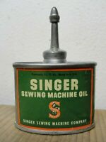 Small Antique Singer Sewing Machine Oil Lead Top Oiler Tin Can