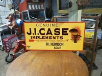 Large JI Case Tractor Implements Sign Farm Seed Feed Barn Gas Oil 24