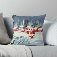 Vintage, Winter, Christmas Pillow Case, Holiday Pillow Cover