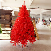 Red Christmas Trees Xmas Tree decorated 3 4 5 6 7 ft Holiday Lighted with Stand