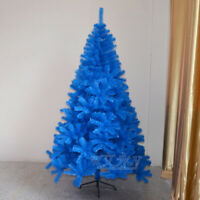 Blue Christmas Trees Xmas Tree decorated 3 4 5 6 7 ft Holiday Lighted Stand