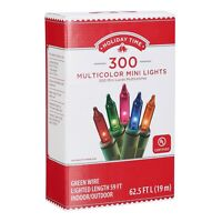 Holiday Time Indoor and Outdoor Multicolor Mini Christmas Lights, 59', 300 Count