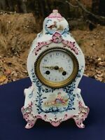 BEAUTIFUL AND RARE FRENCH LONGWY 19TH CENTURY POTTERY CLOCK.DATED 1896..PERFECT