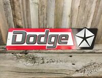 Dodge Chrysler Dealer 1970's Mopar Metal Tin Sign Vintage Style Garage 19