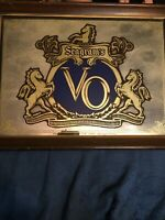 Vintage Seagram's VO Canadian Whisky Mirror Sign - Bar Advertising