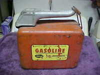 Vintage 2.5 Gallon Metal Gas Can sebring,unusual,swing spout