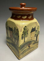 2001 Eldreth Pottery Redware Slip Decorated Colonial Style Pottery Jar