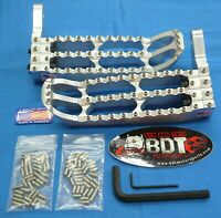 HONDA TRX 250R TRX250R BDT MOTORSPORTS BILLET FOOT PEG SET CLEAT DESIGN 1986-87