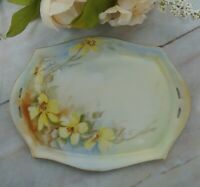 Vintage Hand Painted Carl Tielsch CT Altwasser Germany Floral Small Vanity Tray