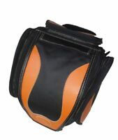 Orange Universal Waterproof Saddlebags Tank Tail Helmet Saddle Bag Backpack ATV