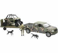 New Ray Toys 1:32 Scale ATV Playset Die-Cast Replica Camo Truck with Polaris XP