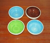 Four (4) Stangl Mid Century Modern Multi Color Coupe Soup Cereal Bowls