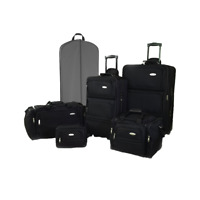 Ultralite 35 or 6 Piece Expandable Luggage Set - Jet BlackGray with Rollers